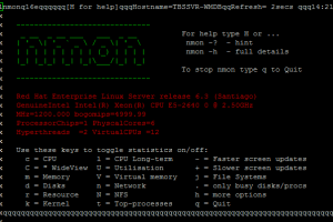 how to monitoring linux server with nmon